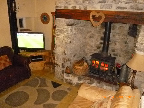 Log burner in Lounge